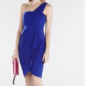 New BCBGMaxAzria Julieta Ruched One Shoulder Dress